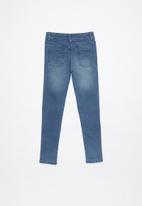 Cotton On - Carrie moto jean - blue wash