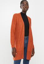 Brave Soul - Long length cardi - orange