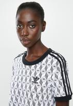 adidas Originals - Graphics 3 stripes tee - black & white