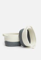 H&S - Rope storage set of 3 - grey
