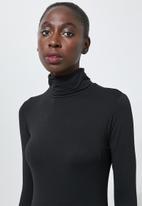 Superbalist - 2 pack polo neck midi dress - rust & black