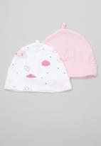 POP CANDY - Cloud print 2 pack beanie - pink & white