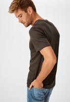 Cotton On - Tbar moto T-shirt - washed black/resin and repair