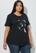 Superbalist - Plus printed tee - black