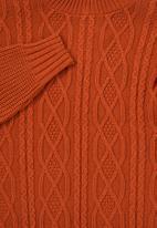 Superbalist - Cable knit jumper - orange