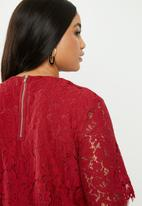 Glamorous - Red lace tunic - red