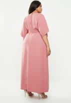 Glamorous - Kimono maxi dress - pink