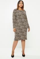 edit Plus - Bodycon dress - black & brown
