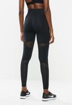 Nike - Nike performance luxe mesh tights - black