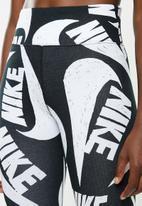 Nike - Nsw icon clash leggings - black & white