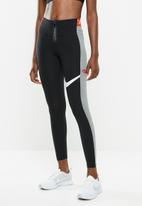 Nike - Nike power tights - black & grey