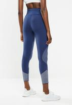 adidas - 25/7 running tights - tech indigo/grey