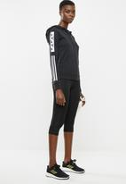 adidas Performance - Block fz hoodies - black