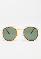 Superbalist - Lucky sunglasses - gold & green