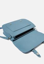 Typo - Milton satchel - petrol blue