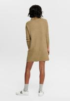ONLY - Jana cowlneck dress - brown