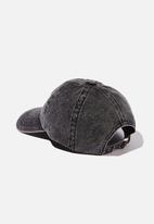 Rubi - Kaia cap - black snow wash denim