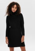 ONLY - Jana cowlneck dress - black