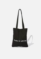 Rubi - Take it all in tote - black