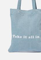 Rubi - Take it all in tote - denim