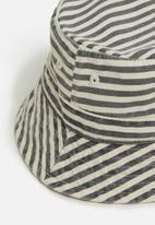 Cotton On - Baby bucket hat - stripe white & grey