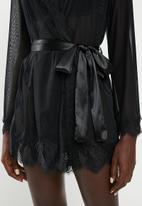 Sissy Boy - Kimono sleeve gown - black