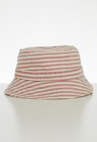 Cotton On - Baby bucket hat - white & pink