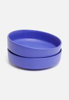 Urchin Art - Sam bowl set of 2 - blue