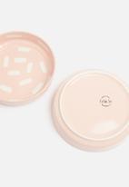 Urchin Art - Dots bowl set of 2 - pink & white