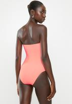 Cotton On - Strapless one piece cheeky - fizz rib