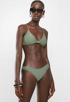 Cotton On - Knot front bralette bikini top - cool avocado