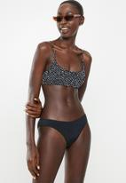Cotton On - Scoop crop bralette bikini top - speckle spot black