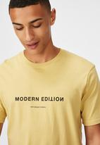 Cotton On - Tbar text T-shirt - yellow