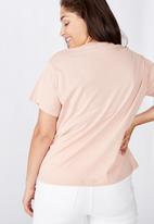 Cotton On - Curve graphic tee south west - pink