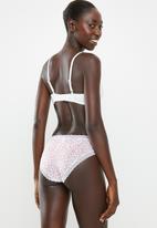 Cotton On - Smooth lace trim bikini brief - tulip ditsy