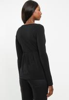 Superbalist - Maternity mock wrap top - black