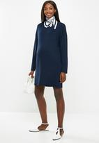 Superbalist - Maternity Long sleeve tee dress - navy