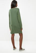 Superbalist - Maternity Long sleeve tee dress - khaki