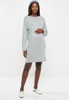 Superbalist - Long sleeve tee dress - grey