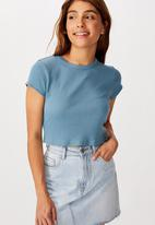 Cotton On - The baby sister pointelle tee - provincial blue