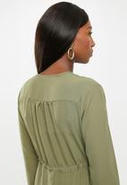 Superbalist - Maternity Peasant maxi dress - green