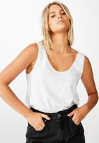 Cotton On - The relaxed scoop tank - grey
