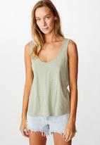 Cotton On - The relaxed scoop tank - tea