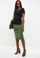 Superbalist - Ruched maternity skirt - khaki