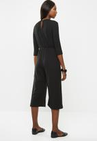 Superbalist - Tie front jumpsuit - black