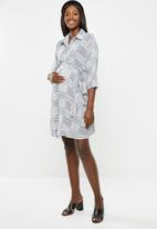 Superbalist - Maternity Belted shirt dress - check