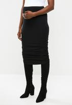 Superbalist - Ruched maternity skirt - black