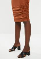 Superbalist - Ruched maternity skirt - rust