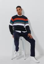 Superbalist - Stripe chunky crew neck knit - multi