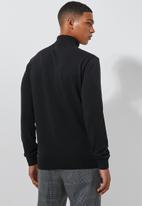 Superbalist - Premium slim fit roll neck knit - black